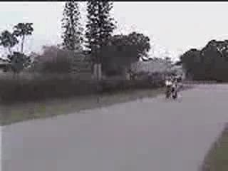 Wheelie down the street. from:DotComd